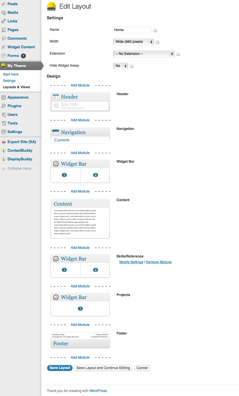 how to build a wordpress r eacute sum eacute site using builder the layout of the reacutesumeacute