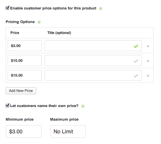 Customer Pricing