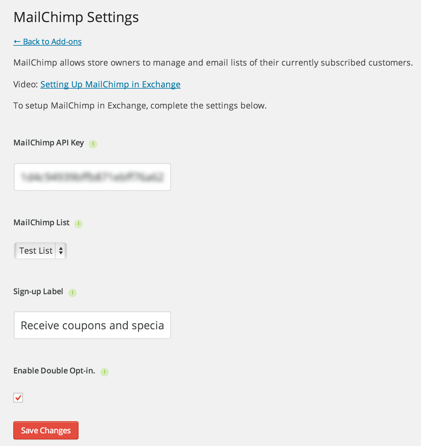 exchange-mailchimp-settings