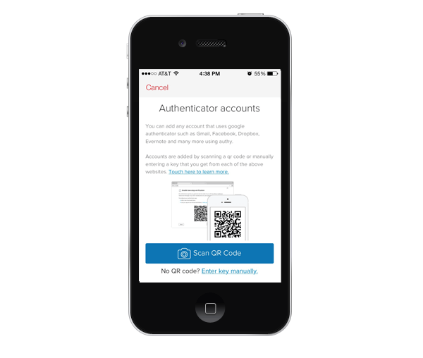 authy-QR-code-scanner