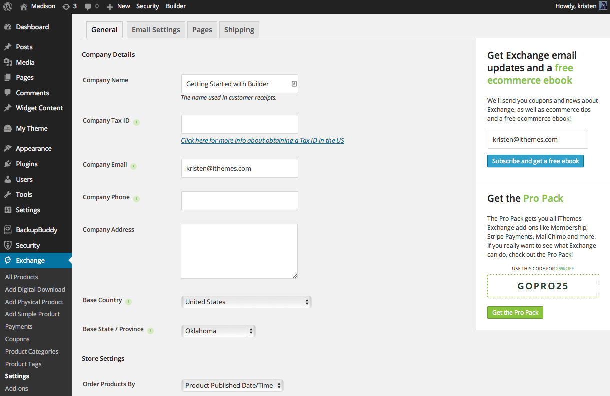 ithemes-exchange-settings