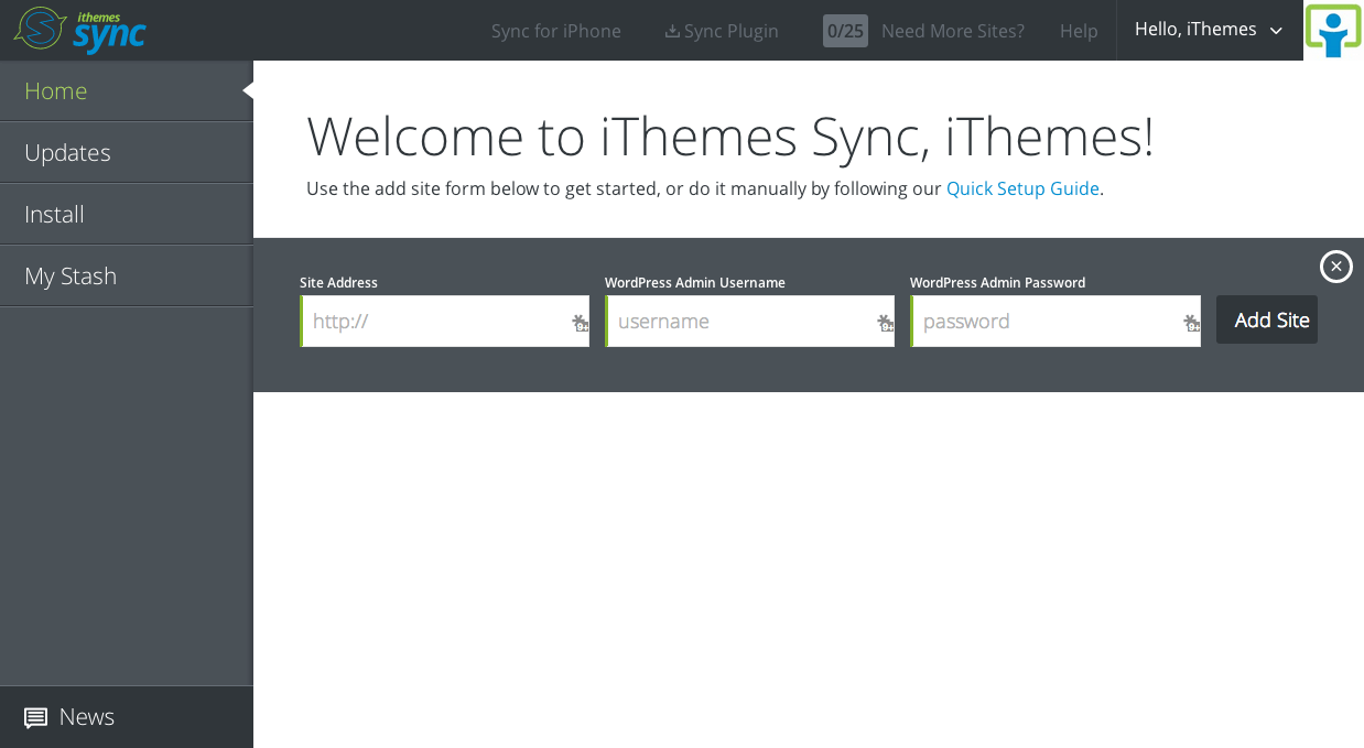 New in Sync: Add Sites with One Click, Email Notifications & Ignore