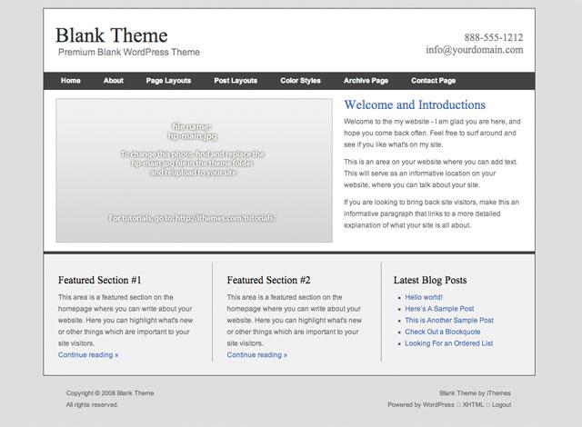 blank essence wordpress theme