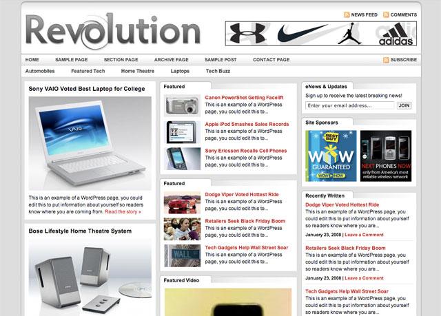 revolution tech wordpress theme