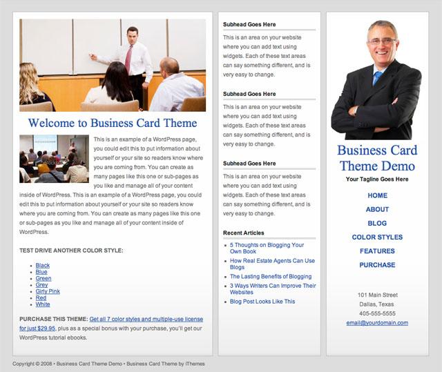 business card web template grey