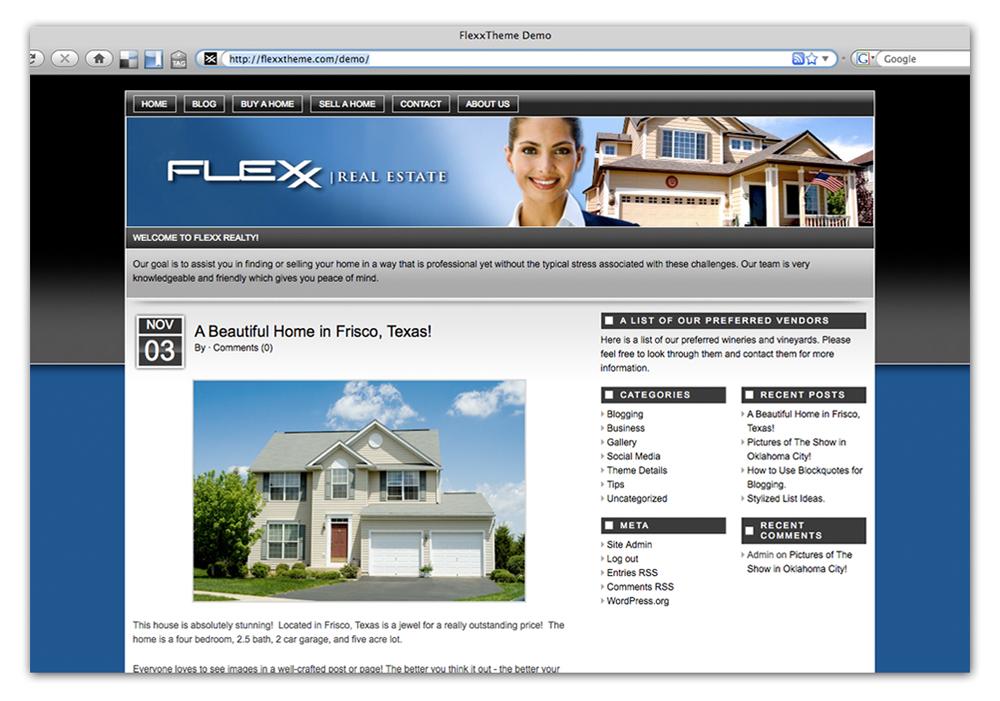 Sample Real Estate Site in Flexx