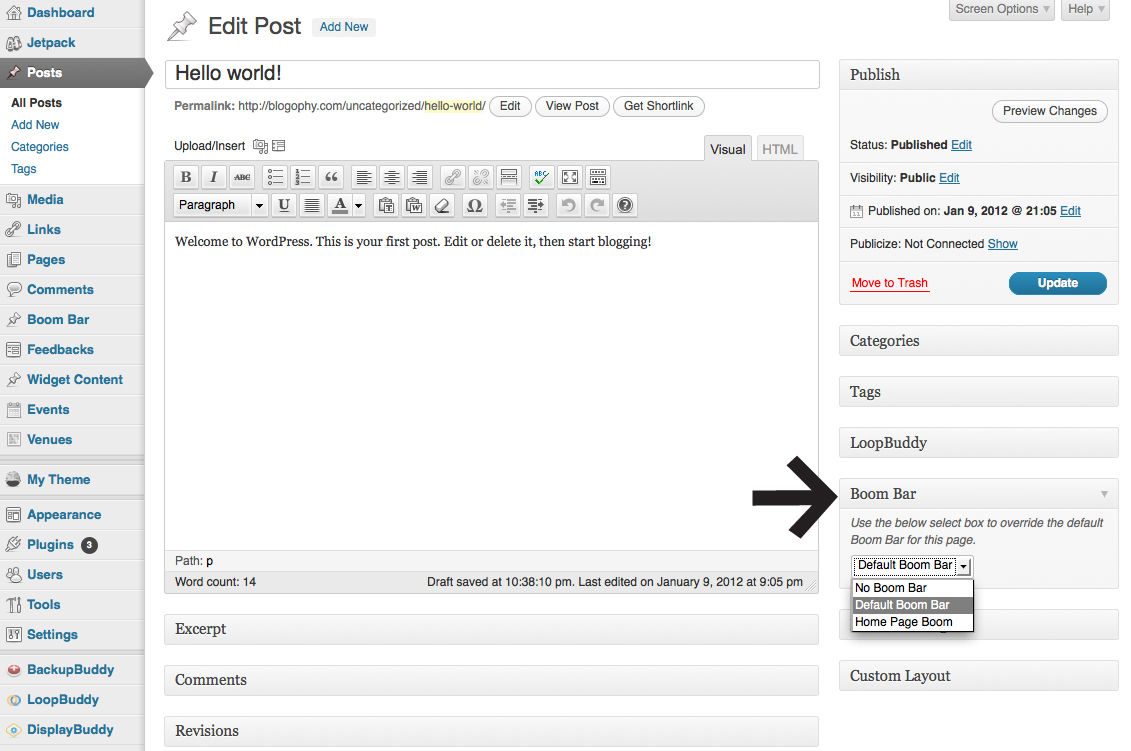 iThemes BoomBar Wordpress Notification Bar Plugin v1 2