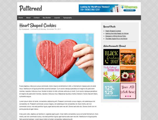 patterned demo site screenshot
