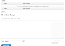 Email Messages Editor