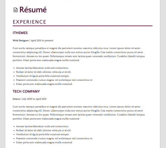 How to Build a WordPress Résumé Site Using iThemes Builder ...