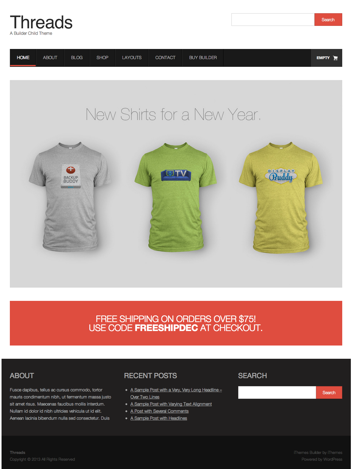 Shirt design wordpress plugin - Threads Is Designed To Integrate Exclusively With Shopp Our Favorite Ecommerce Plugin For Wordpress We Really Wanted To Highlight All Of The Great