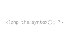 phpsyntax
