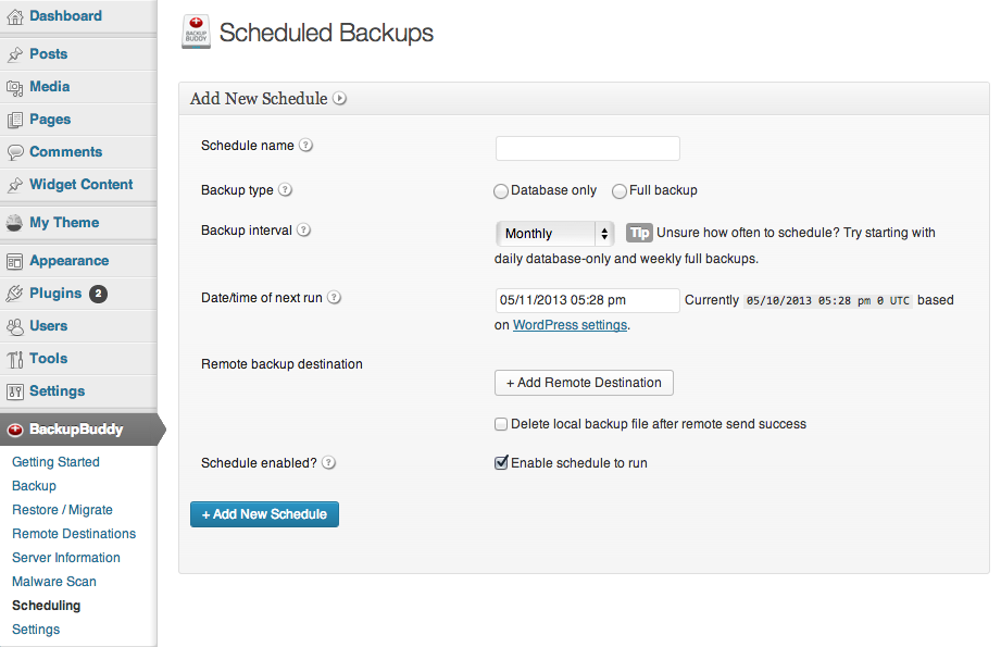 Scheduled-backup