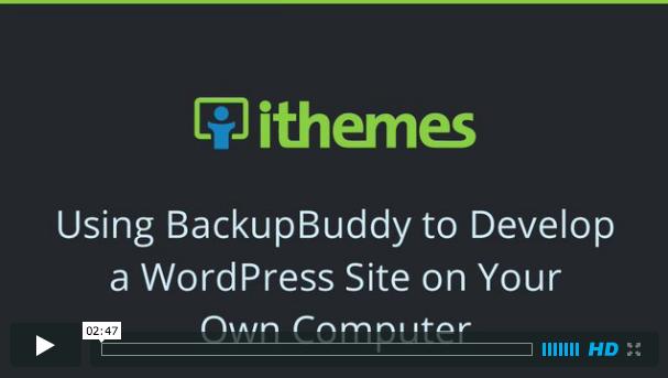 Using BackupBuddy to Develop a WordPress Site Locally