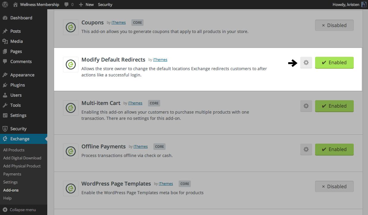 Shop customer account login/downloader - Modify Default Redirects Settings