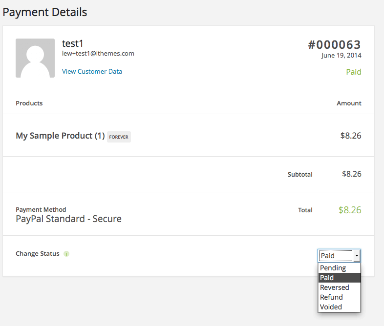 paypal payment status