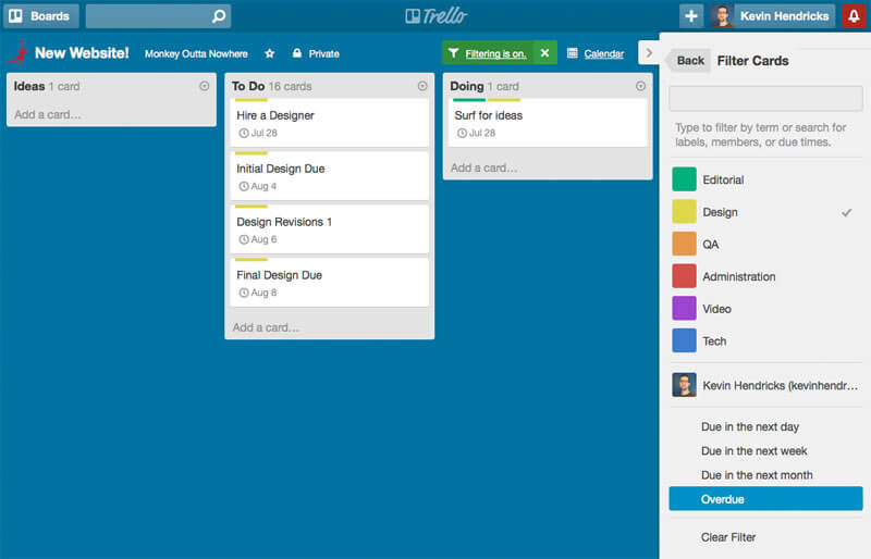 Trello for Freelancers: Ooh, filters!