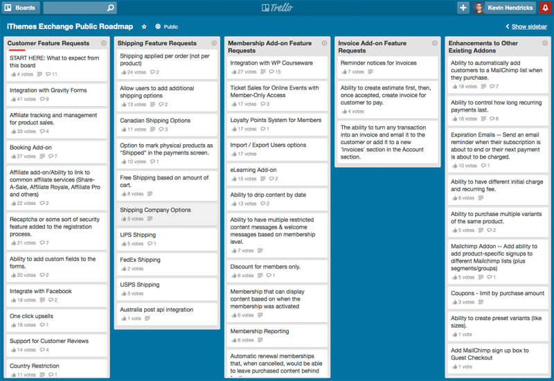 Trello for Freelancers: A look at a Trello board.