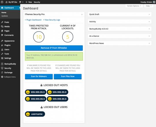 ithemes-security-dashboard-widget