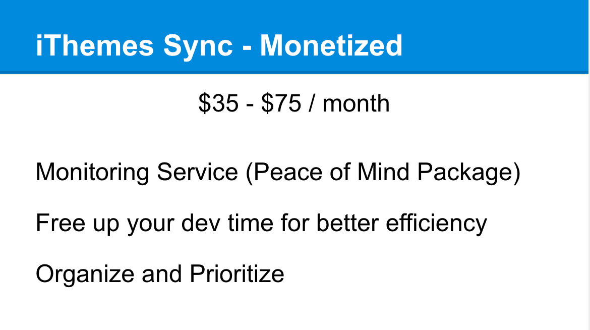 iThemes Sync monetized
