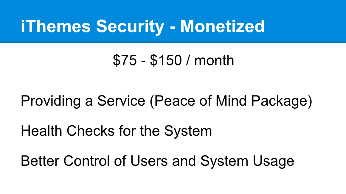 iThemes Security monetized