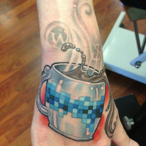 WordPress Developer Andrew Norcross and his WordPress Tattoo