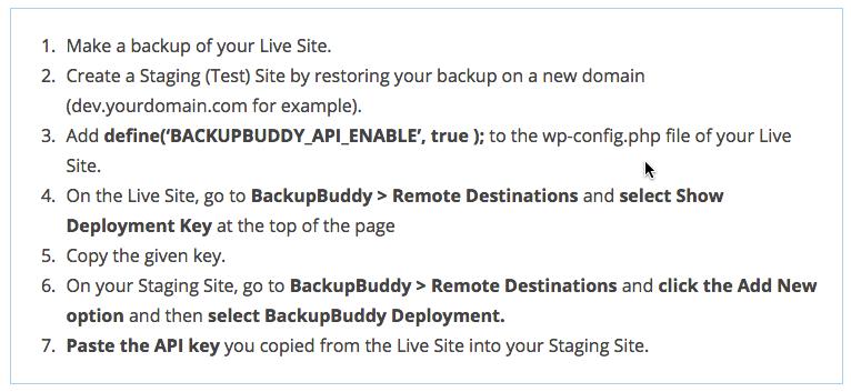 Deployment-BackupBuddy