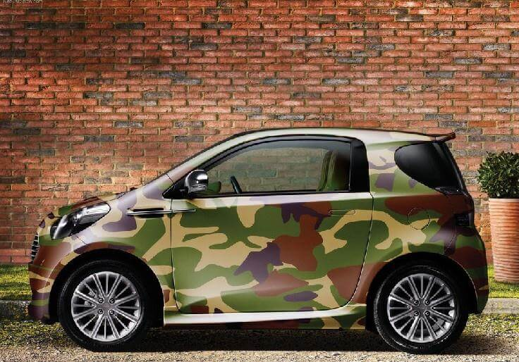 A camouflaged smart car, not the security I want