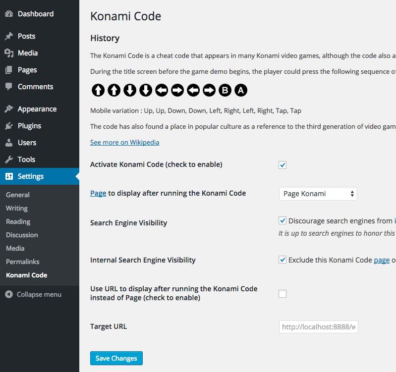 WP-Konami-Code