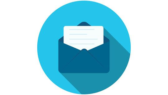 Flat Design Concept Email Send Icon  Illustration With Long Shadow.