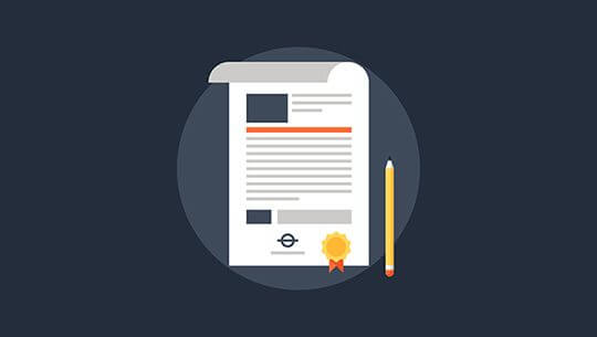 Vector illustration of contract flat design concept.