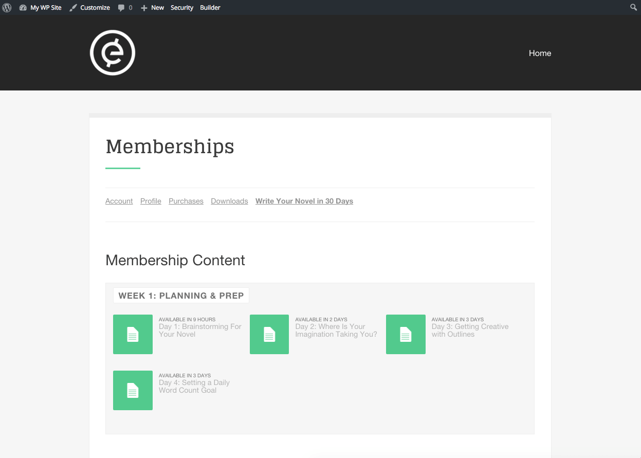 wordpress-membership-site