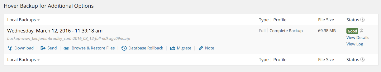 Migrate WordPress options
