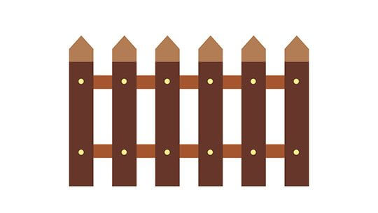 Fence flat icon isolated on white background