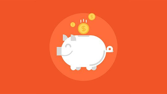 Vector illustration of savings flat design concept.