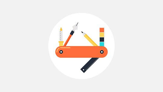 Vector illustration of power tools flat design concept.