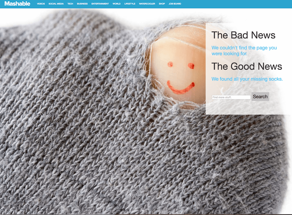 Funny 404 Pages - Mashable