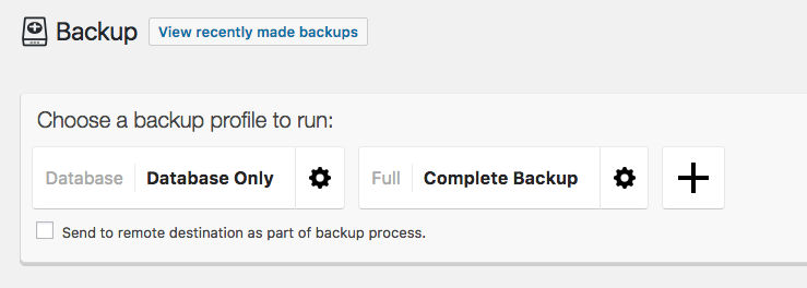 WordPress Backup