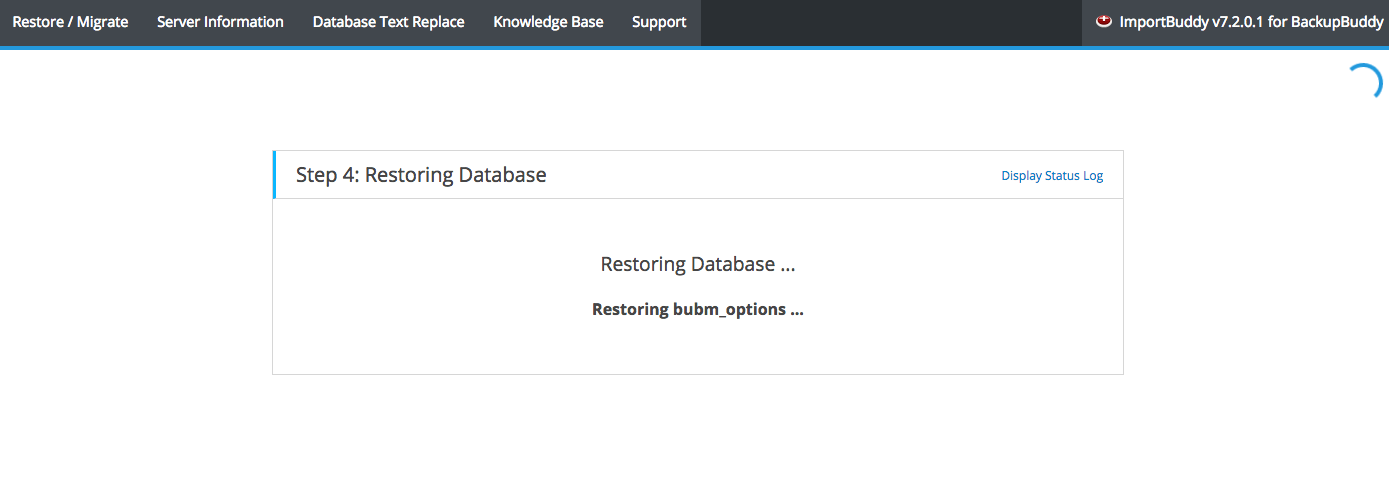 Restoring WordPress Database