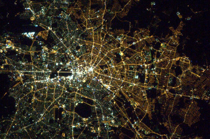Berlin from space as an example of the power of corporate culture (Source: NASA)
