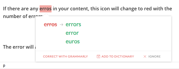 Grammarly Corrections