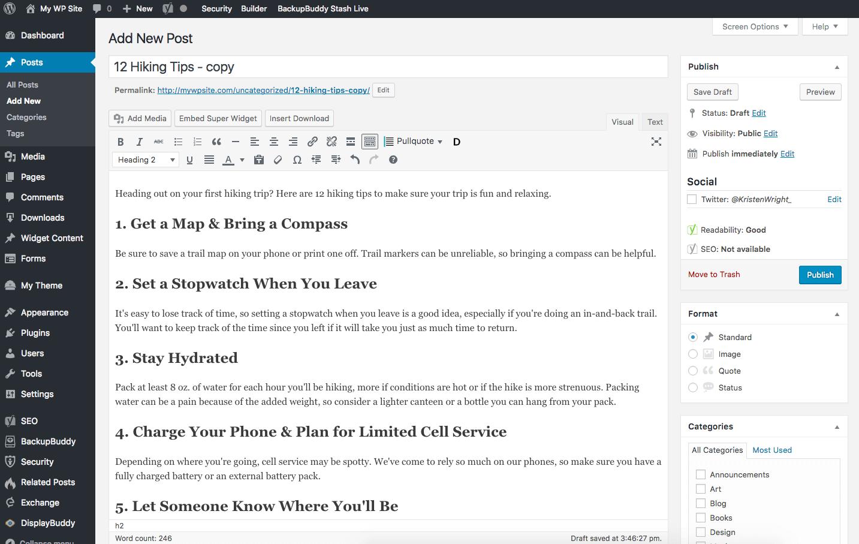 duplicate wordpress post