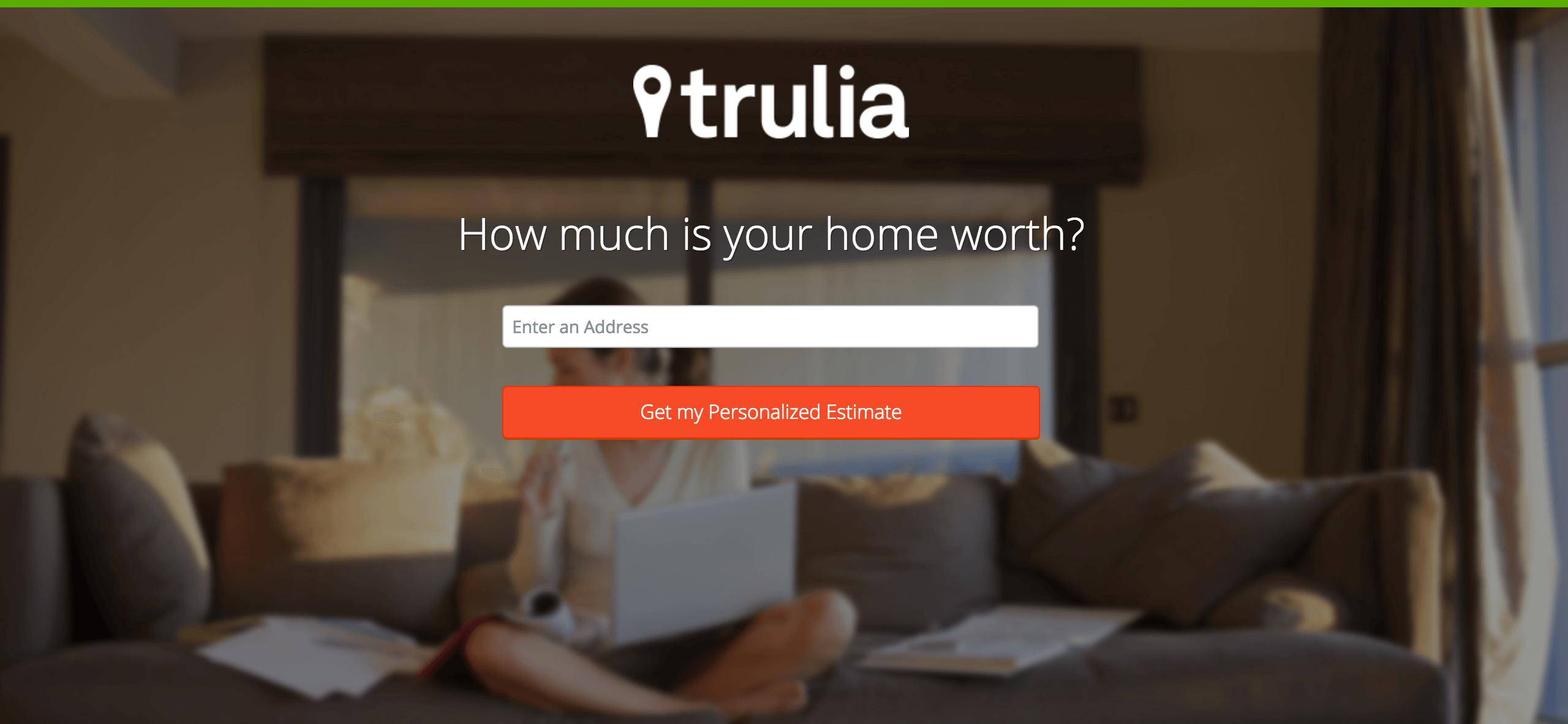 trulia landing page