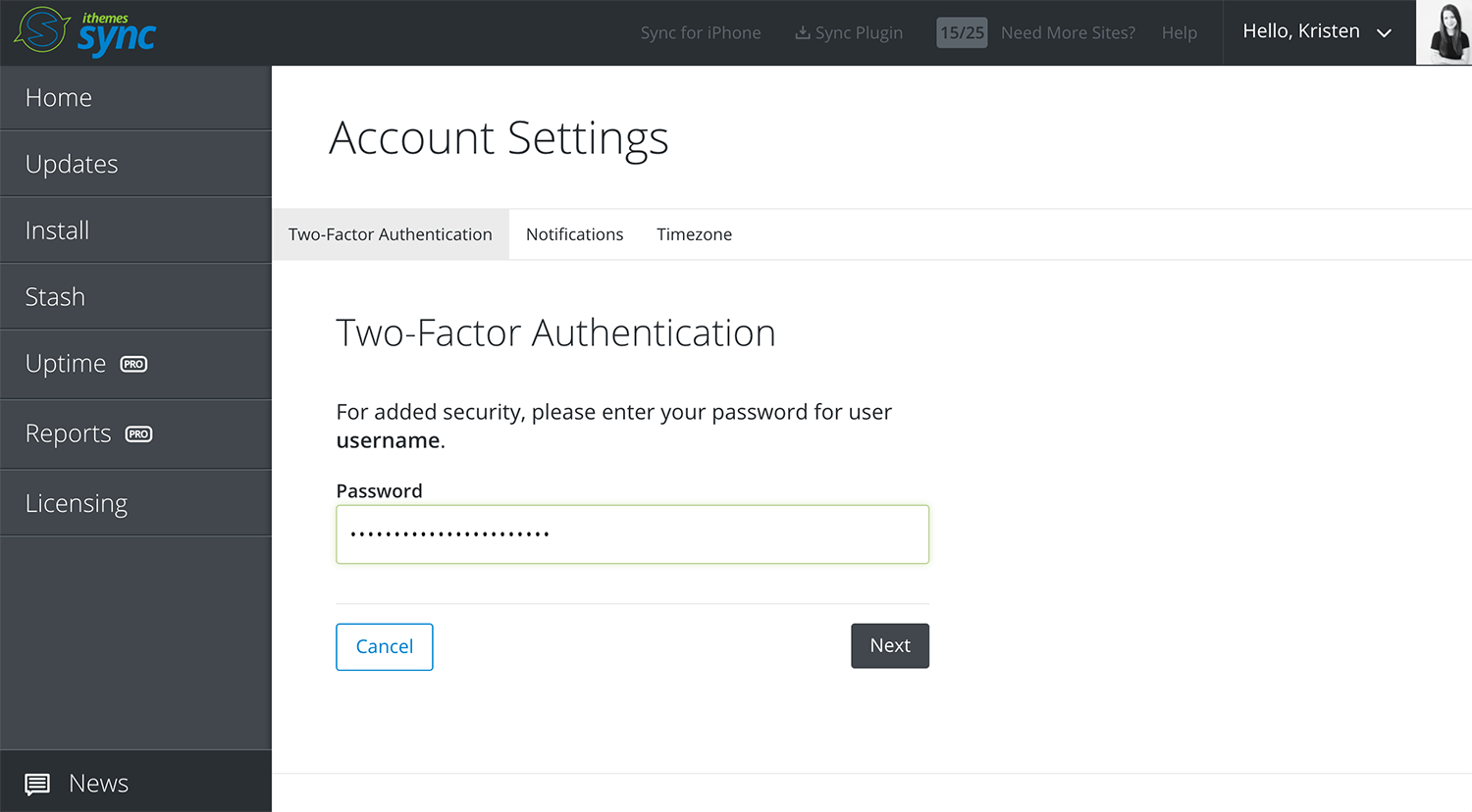 sync account settings