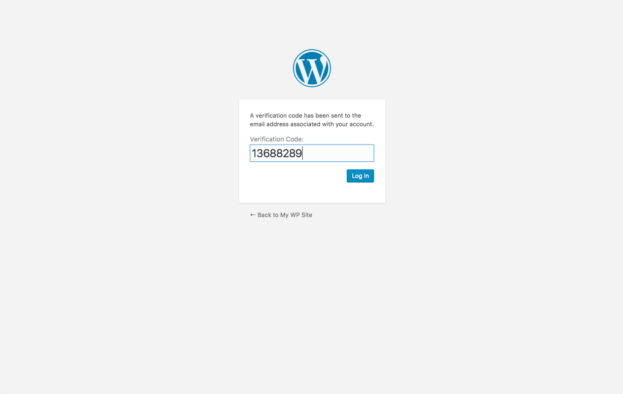 WordPress two factor authentication