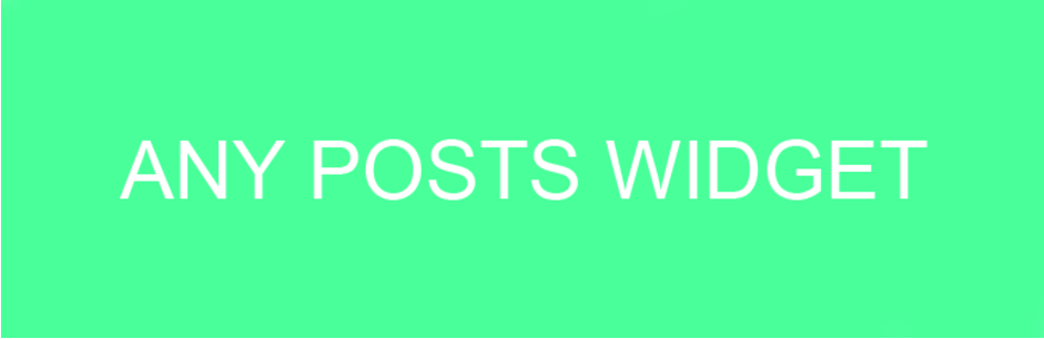 any posts widget plugin