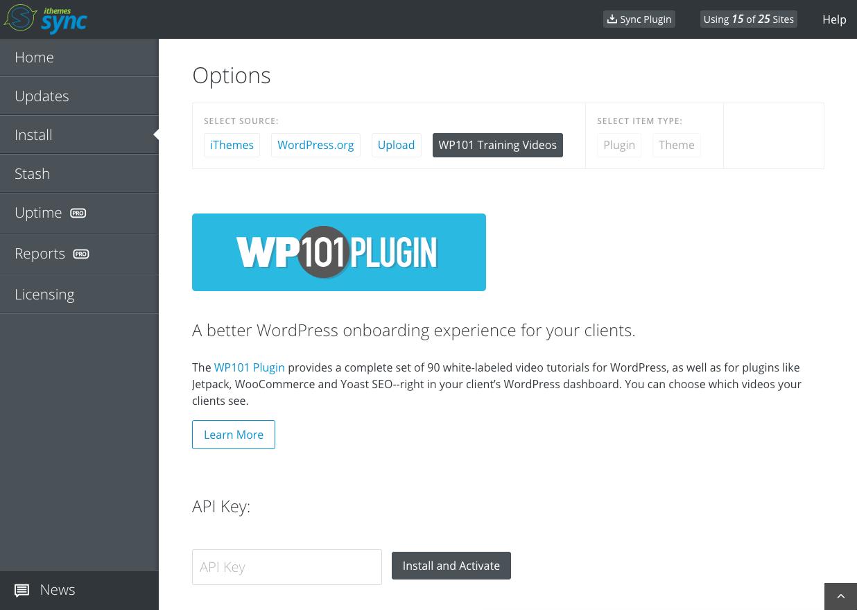 WP101 plugin