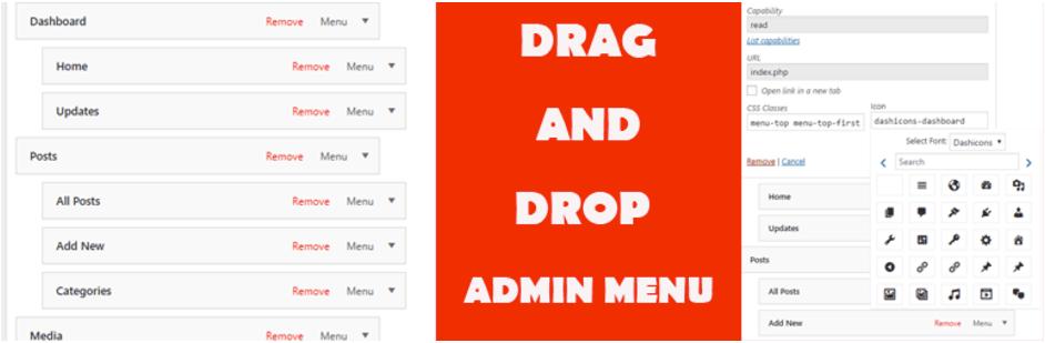 admin menu plugin
