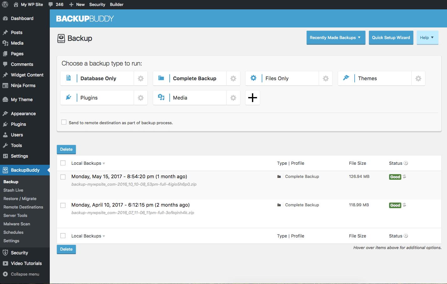 backupbuddy smart backup profiles