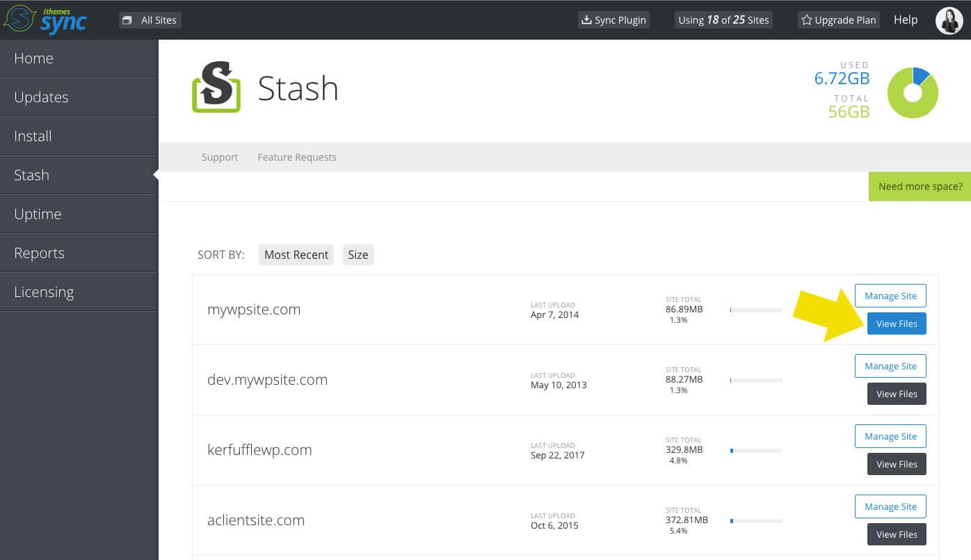 Stash Live View Files